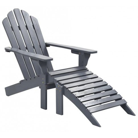 Zdjęcie produktu Drewniane krzesło ogrodowe Falcon - szare.