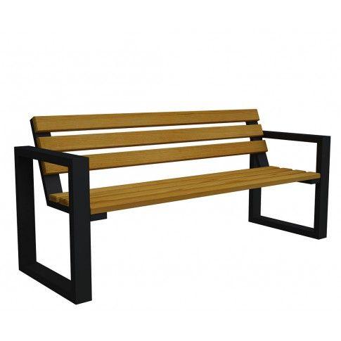 Zdjęcie produktu Ławka ogrodowa Norin Black 150cm - 8 kolorów .