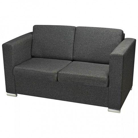 dwuosobowa sofa sigala2q ciemnoszara