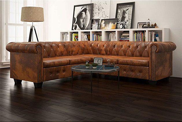sofa narożna chesterfield Amberly - wizualizacja