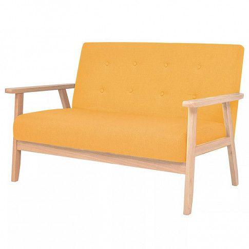 dwuosobowa sofa retro vita2x zolta