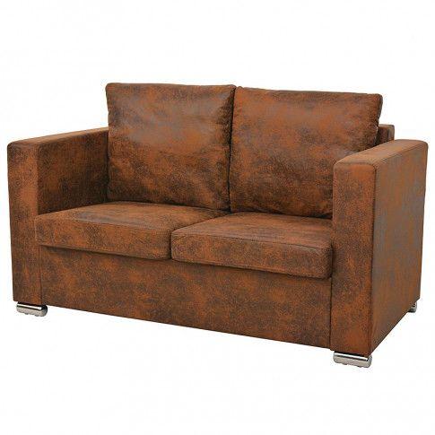dwuosobowa sofa vela2q brazowa