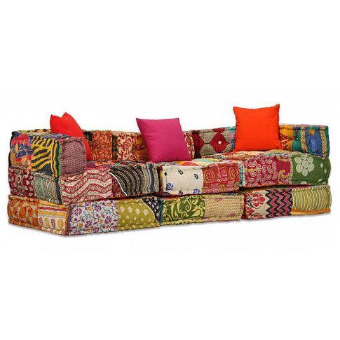 Zdjęcie produktu Patchworkowa modułowa sofa Demri 5D.