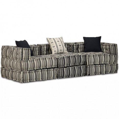 3-osobowa rozkładana sofa modułowa w paski Demri 5D
