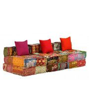 Patchworkowa sofa 3-osobowa Demri 4D