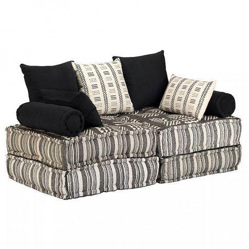 Dwuosobowa sofa modułowa w paski Demri 2D