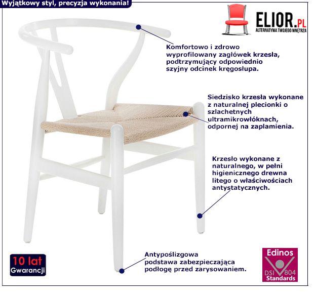 Vintage krzesło Ermi - białe