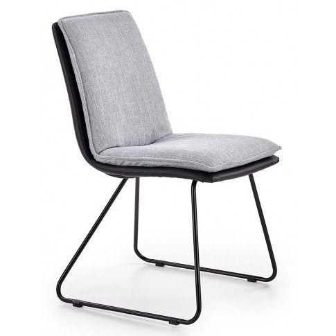Zdjęcie produktu Krzesło tapicerowane Leo - popielate .