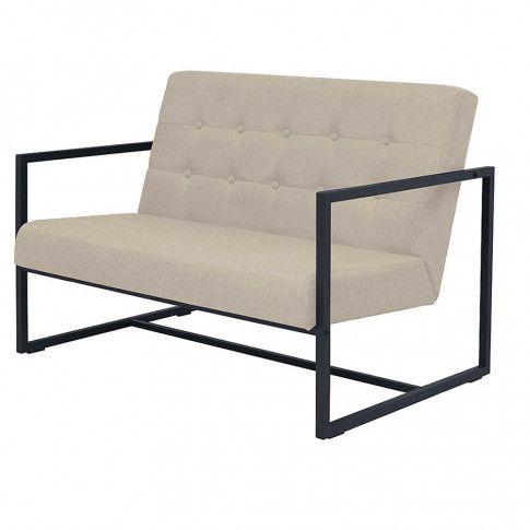 Zdjęcie produktu Zgrabna 2-osobowa sofa Mefir - kremowa.