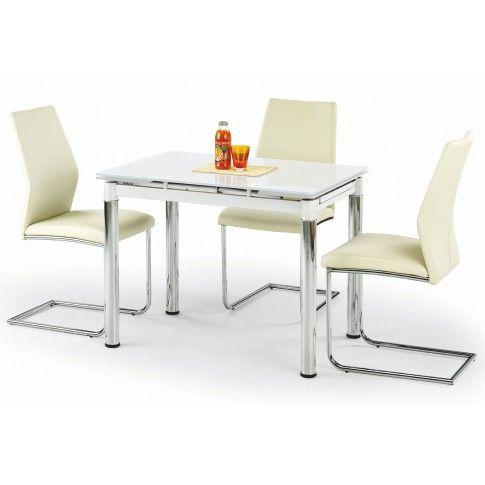 Zdjęcie produktu Rozkładany stół kuchenny Promex - biały.
