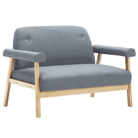 Zdjęcie produktu Tapicerowana sofa 2-osobowa Eureka 2G - jasny szary .