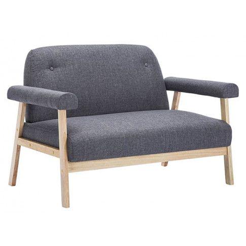 Zdjęcie produktu Materiałowa sofa 2-osobowa Eureka 2D - ciemnoszara.