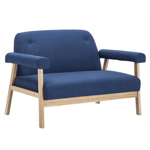 Zdjęcie produktu 2-osobowa sofa tapicerowana Eureka 2B - granatowa.