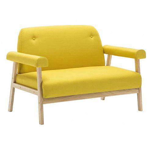 Zdjęcie produktu Sofa 2-osobowa materiałowa Eureka 2Y - żółta.