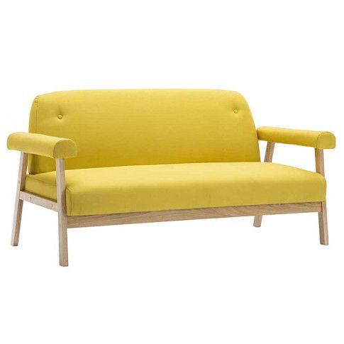 Zdjęcie produktu Tapicerowana sofa 3-osobowa Eureka 3Y - żółta.
