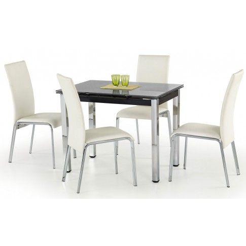 Zdjęcie produktu Szklany stół rozkładany Promex - czarny.