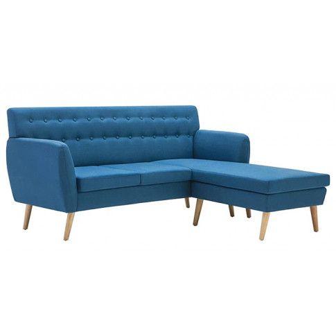 Zdjęcie produktu Tapicerowana pikowana sofa Larisa 2B - niebieska.