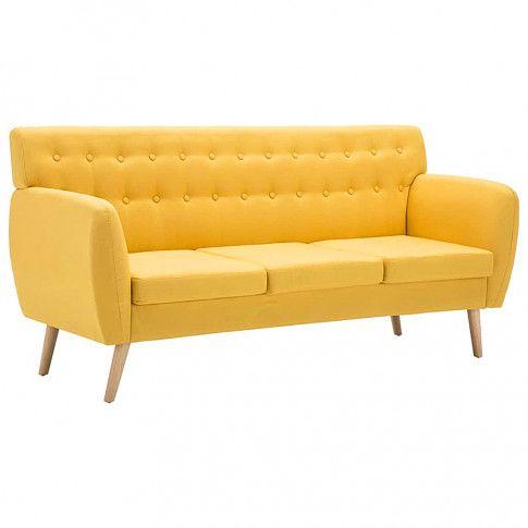 pikowana sofa lilia zolta