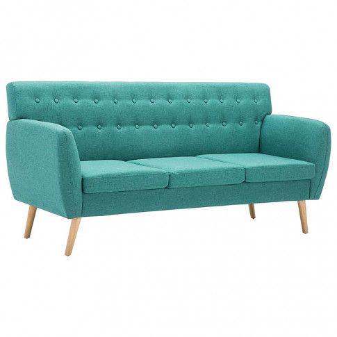 pikowana sofa lilia zielona