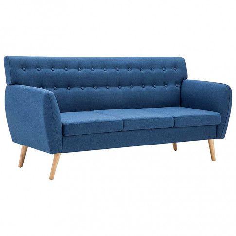 pikowana sofa lilia niebieska