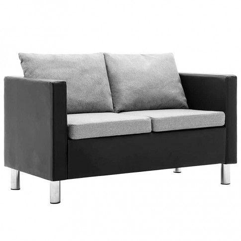 Zdjęcie produktu Atrakcyjna 2-osobowa sofa Karlo 2Q - czarno-jasnoszara.