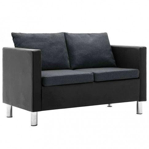 Zdjęcie produktu Atrakcyjna 2-osobowa sofa Karlo 2Q - czarno-ciemnoszara.