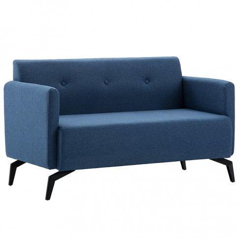 Zdjęcie produktu Stylowa 2-osobowa sofa Rivena 2X - niebieska.