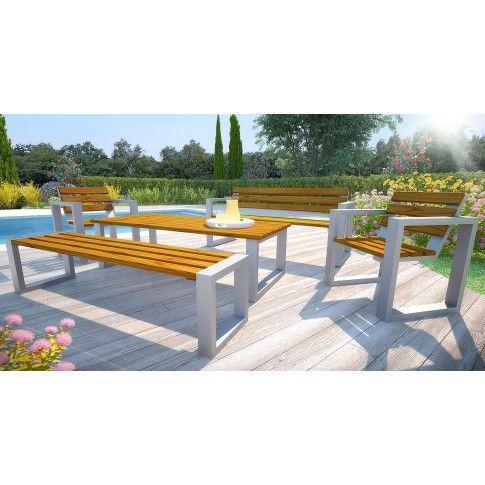 Zdjęcie produktu Komplet mebli ogrodowych 150cm Norin - 24 kolory.
