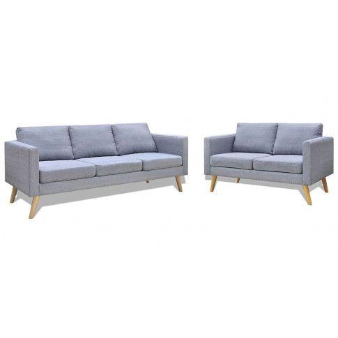 Zdjęcie produktu Komplet 2 sof wypoczynkowych Bailey - Jasnoszary.