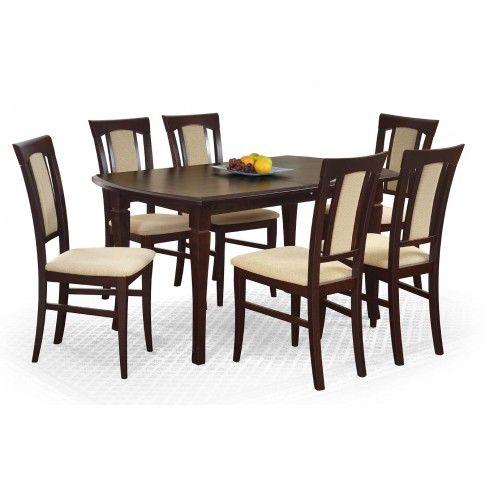 Zdjęcie produktu Rozkładany stół Lister XL - ciemny orzech.