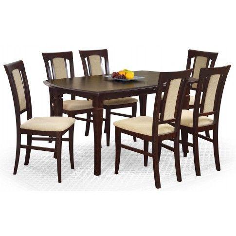 Zdjęcie produktu Rozkładany stół Lister - ciemny orzech.