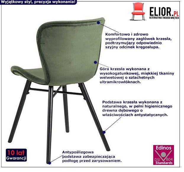 Miękkie krzesło Esso - zielone