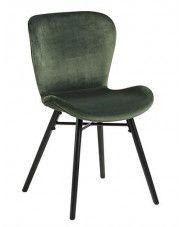 Welwetowe krzesło Esso - zielone