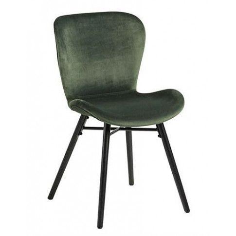 Zdjęcie produktu Tapicerowane welwetowe krzesło Esso - zielone.