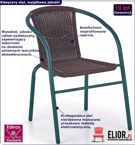Krzesło ogrodowe Tivoli - brąz