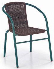 Rattanowe krzesło ogrodowe Tivoli - ciemny brąz