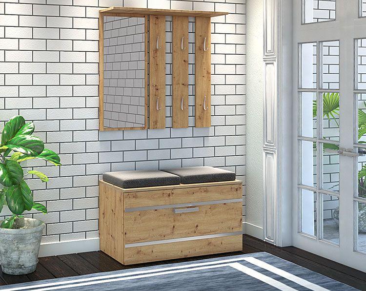 Garderoba w industrialnym stylu z lustrem Malea