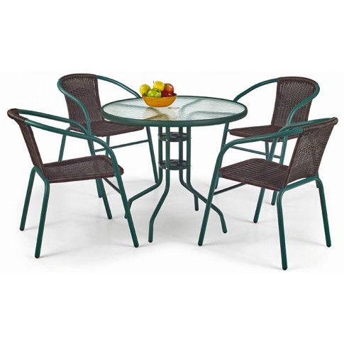 Zdjęcie produktu Szklany stół ogrodowy Tivoli - okrągły.