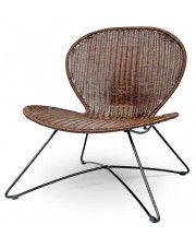 Rattanowy fotel ogrodowy Livio - brąz