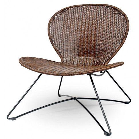 Zdjęcie produktu Rattanowy fotel ogrodowy Livio - brąz.