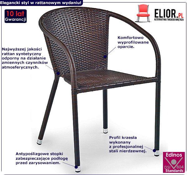 Krzesło ogrodowe LUKKA- brąz