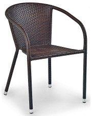 Rattanowe krzesło ogrodowe Lukka - brązowe