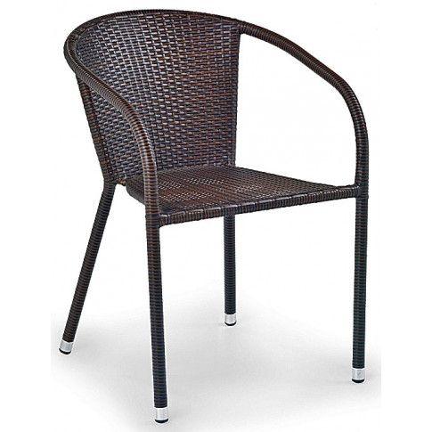 Zdjęcie produktu Rattanowe krzesło ogrodowe Lukka - brązowe.