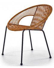 Nowoczesny  fotel ogrodowy Desio - rattanowy
