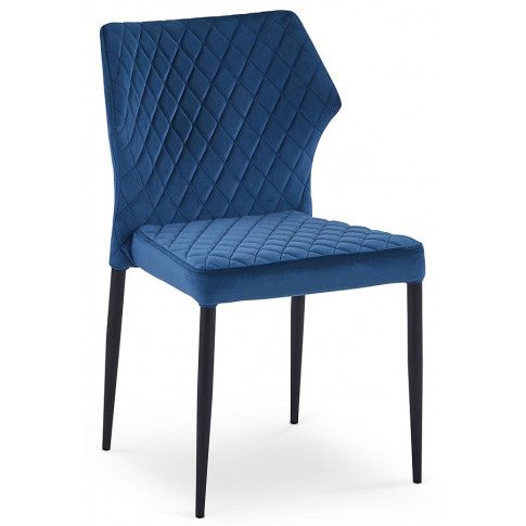 Zdjęcie produktu Krzesło pikowane Lenton - granatowe.