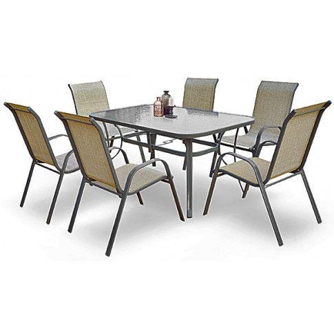 Zdjęcie produktu Szklany stół ogrodowy Malaga - prostokątny.
