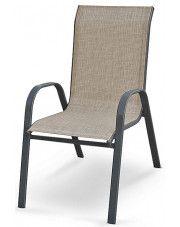 Modne krzesło ogrodowe Malaga- popiel