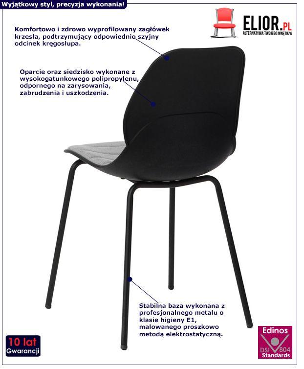 Designerskie krzesło Effi 2X - czarne