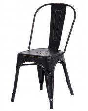 Loftowe krzesło Kimmi 4X - czarne