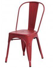 Loftowe krzesło Kimmi 4X - czerwone